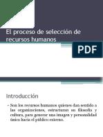 02 El Proceso de Selección de Recursos Humanos