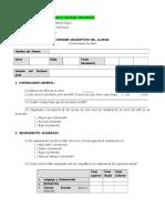 Informe Descriptivo Del Alumno (Cuestionario Escolar)