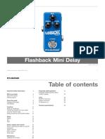 Tc Electronic Flashback Mini Delay Manual English