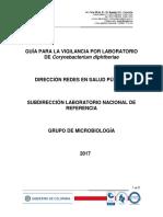 Guía Para La Vigilancia Por Labotarorio de Corynebacterium Diphtheriae
