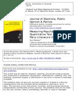 Measuring Populism