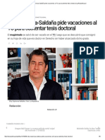Eloy Espinosa-Saldaña Pide Vacaciones Al TC Para Sustentar Tesis Doctoral _ LaRepublica.pe