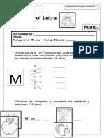 Evaluación Letra M