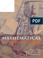 Mathematical Knowledge (OUP - Leng, Paseau, Potter)