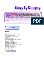 List of Songs by Category