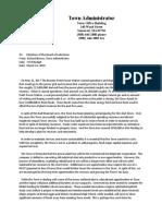 Brown Letter to SOM Selectmen Re FY19 Budget