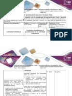 Guía de Actividades y Rubrica de Evaluación- Fase 4 Nueva Experiencia-Evaluación Final