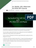 Spring Boot, MySQL, JPA, Hibernate Restful CRUD API Tutorial _ CalliCoder