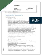 Historia de México Del Año 2000-2017 (Aspectos Económicos,Sociales y Políticos)