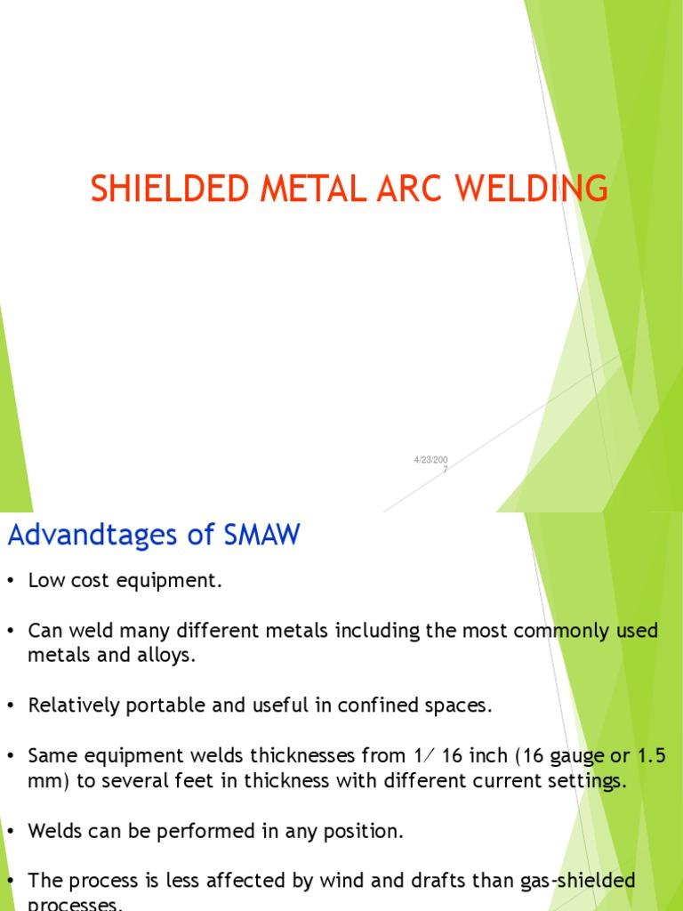Shielded Metal Arc Welding Welding Industrial Processes