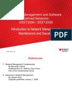 Lecture Introduction Network Management Maintenance Security Part 1