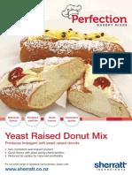 Yeast Donut Mix Flyer