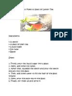 How to Make a Glass of Lemon Tea