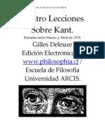 Deleuze Gilles - Cuatro lecciones sobre Kant .pdf