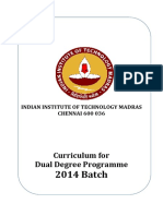 DualDegree Curriculum 2014