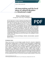 Intertextual stancetaking and the local negotiation of cultural identities by a binational couple
