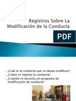 Registros Sobre La Modificación de La Conducta