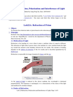 Refraction, Polarization ,Interference and Diffractionof Light (US)