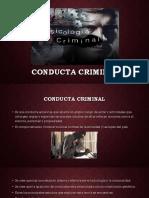 Conducta Criminal Introduccion