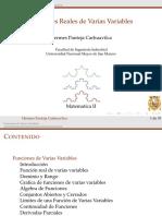 Funciones Varias Variables Parte I