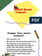 Bagaimana Menulis Proposal