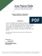 Certificado Escuela de Musica Nubia Rodriguez 2013 Final