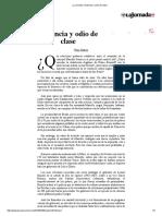 La Jornada_ Violencia y Odio de Clase
