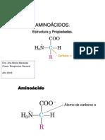 Clase 1 Aminoácidos, Estructura y Propiedades 2018