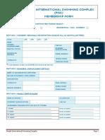 Membership Form PISC