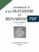BIBLIOTHEQUE D'HUMANISME ET RENAISSANCE TOME XIII NOS. 1-3 - 1951.pdf