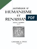 BIBLIOTHEQUE D'HUMANISME ET RENAISSANCE TOME XII NOS. 1-3 - 1950.pdf