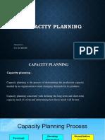 Capacity Planning Ppt