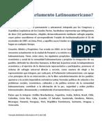 Qué es el Parlamento Latinoamericano
