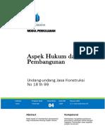 Modul Aspek Hukum Dalam Pembangunan