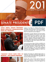 NEWSLETTER. OFFICE OF THE PRESIDENT OF THE SENATE. DR. ABUBAKAR BUKOLA SARAKI. MARCH 31ST, 2018.