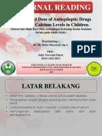 Durasi Dan Dosis Dari Obat Antiepilepsi Terhadap Kadar