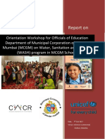 WASH in MCGM Urban schools by CACR-UNICEF Mumbai