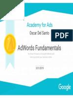 Google AdWords Certificate Oscar Del Santo