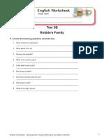 Test 3B - Robbie's Family - Extra Exercises