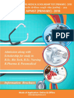 AIPMST Primary of Information  Brochure