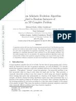A Quantum Adiabatic Evolution Algorithm Applied to Random Instances of an NP-Complete Problem