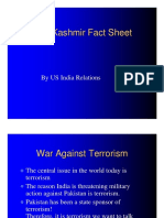 Kashmir Fact Sheet