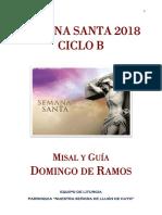 Misal y Guión Domingo Ramos 2018