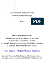 discounts and price increases notes