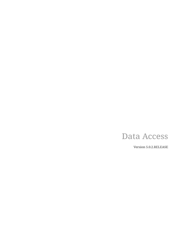 Data Access (Spring frame work)   Spring Framework   Enterprise Java