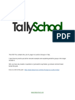 List of Ledger Accounts & Groups in Tally - PDF