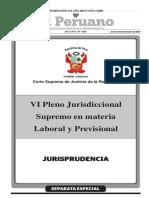VI Pleno Jurisdiccional Supremo en Materia Laboral y Previsional