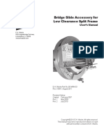 Bridge Slide for LCSF Low Clearance Split Frame Manual