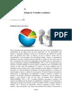 Nota de Aula n 02 - Metodologia Do Trabalho Academico - Pesquisa Qualitativa - Pesquisa Quantitativa