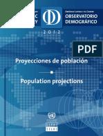 Proyecciones de Poblacion 2012